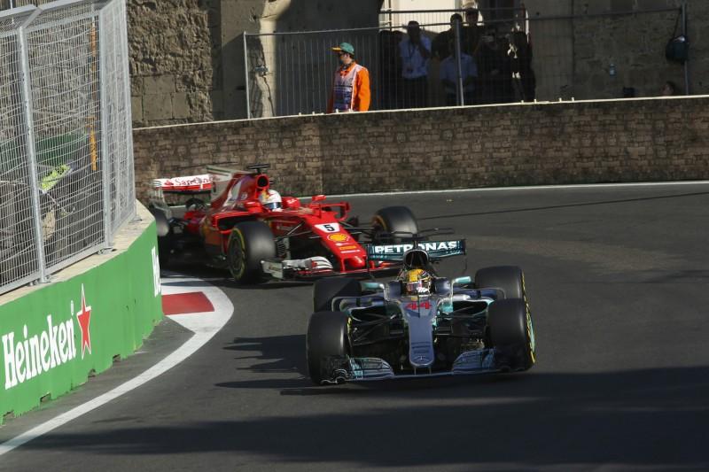 Lewis Hamilton Sebastian Vettel Ferrari Ferrari F1Mercedes Mercedes F1 ~Lewis Hamilton (Mercedes) und Sebastian Vettel (Ferrari) ~