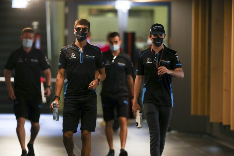 George Russell Nicholas Latifi Williams Williams F1 ~George Russell (Williams) und Nicholas Latifi (Williams) ~