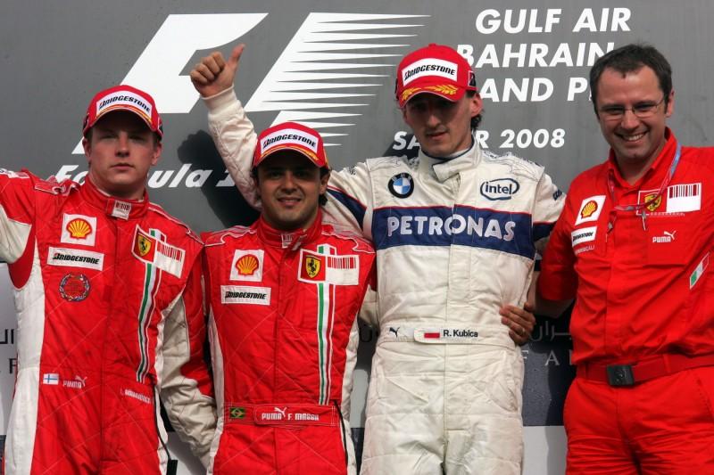 Kimi Räikkönen Felipe Massa Robert Kubica Stefano Domenicali Ferrari Scuderia Ferrari Mission Winnow F1Alfa Romeo Alfa Romeo Racing F1 ~Kimi Räikkönen (Alfa Romeo), Felipe Massa, Robert Kubica (Williams) und Stefano Domenicali ~