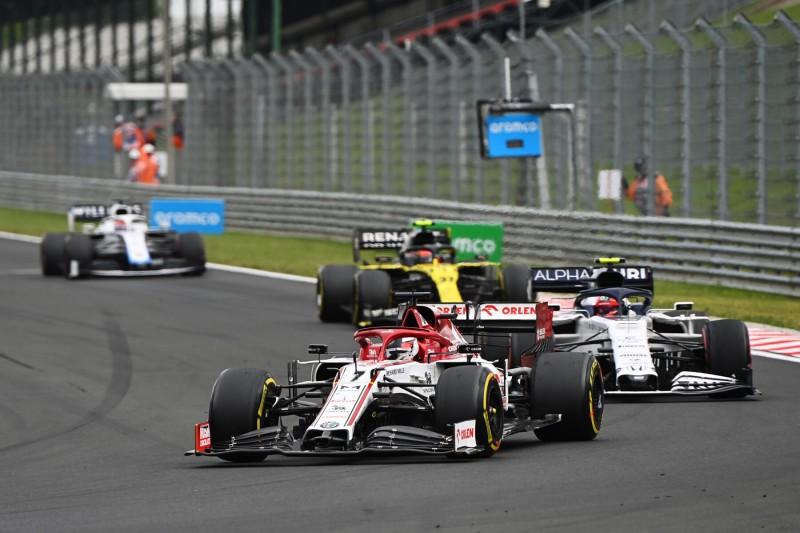 Kimi Räikkönen Pierre Gasly Esteban Ocon AlphaTauri AlphaTauri F1Renault Renault F1 ~Kimi Räikkönen (Alfa Romeo), Pierre Gasly (AlphaTauri) und Esteban Ocon (Renault) ~
