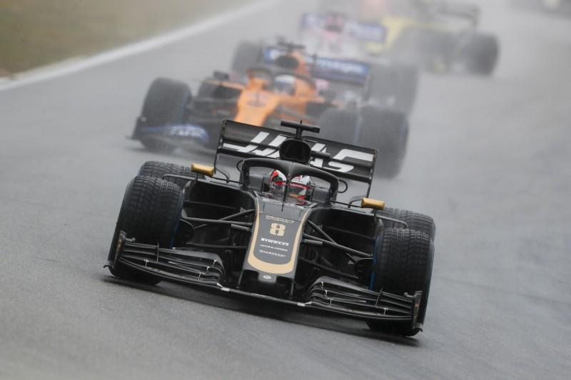 Romain Grosjean Carlos Sainz McLaren McLaren F1 Team F1 ~Romain Grosjean (Haas) und Carlos Sainz (McLaren) ~