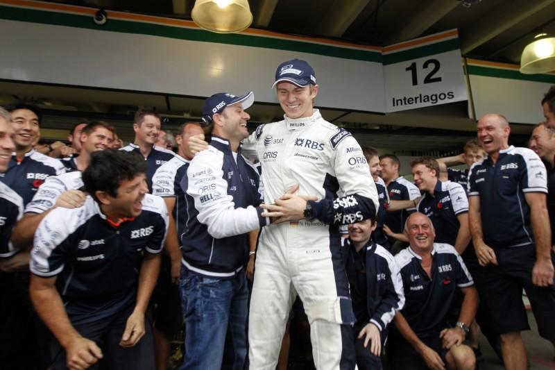 Nico Hülkenberg Rubens Barrichello Jose-Maria Lopez Williams ROKiT Williams Racing F1 ~Nico Hülkenberg (Renault), Rubens Barrichello und Jose-Maria Lopez ~