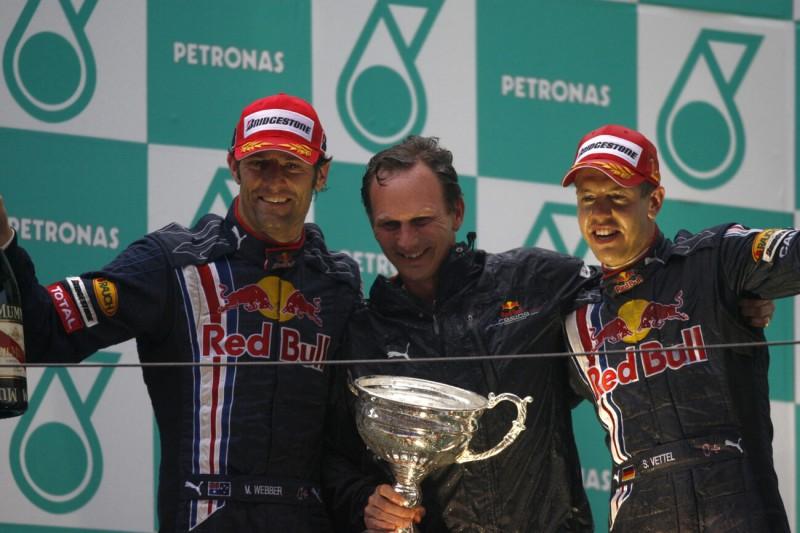 Mark Webber Christian Horner Sebastian Vettel Red Bull Aston Martin Red Bull Racing F1CIP CIP Moto3 ~Mark Webber, Christian Horner und Sebastian Vettel (Ferrari) ~