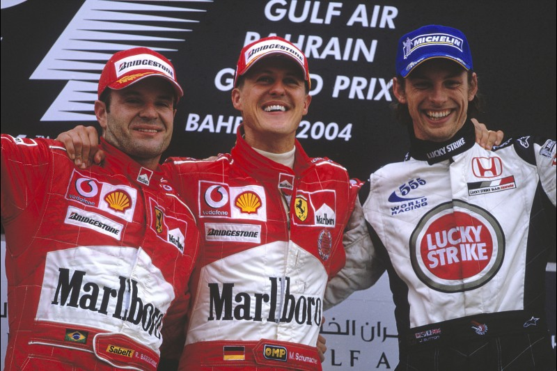 Michael Schumacher, Rubens Barrichello, Jenson Button
