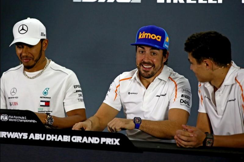 Lewis Hamilton, Fernando Alonso, Lando Norris