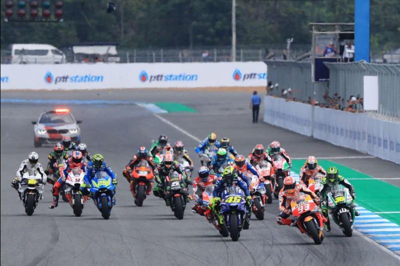Start zum GP Thailand 2018 in Buriram: Marc Marquez, Repsol Honda Team, führt