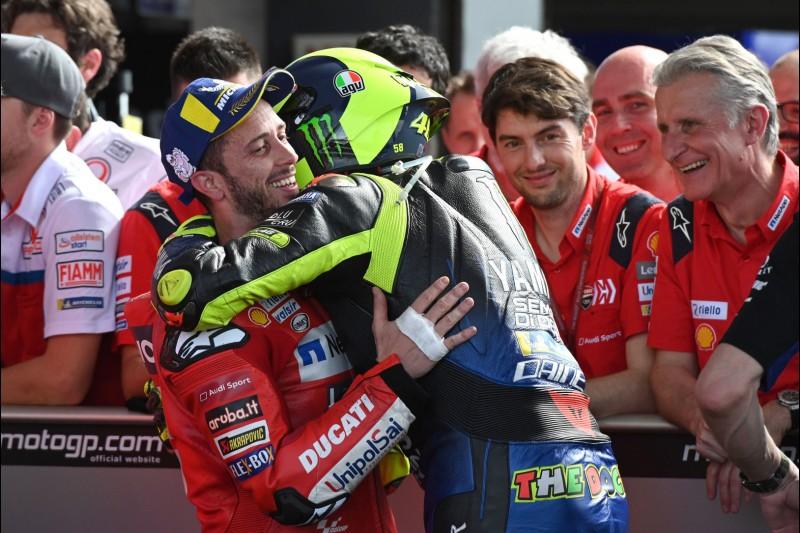 Andrea Dovizioso, Valentino Rossi