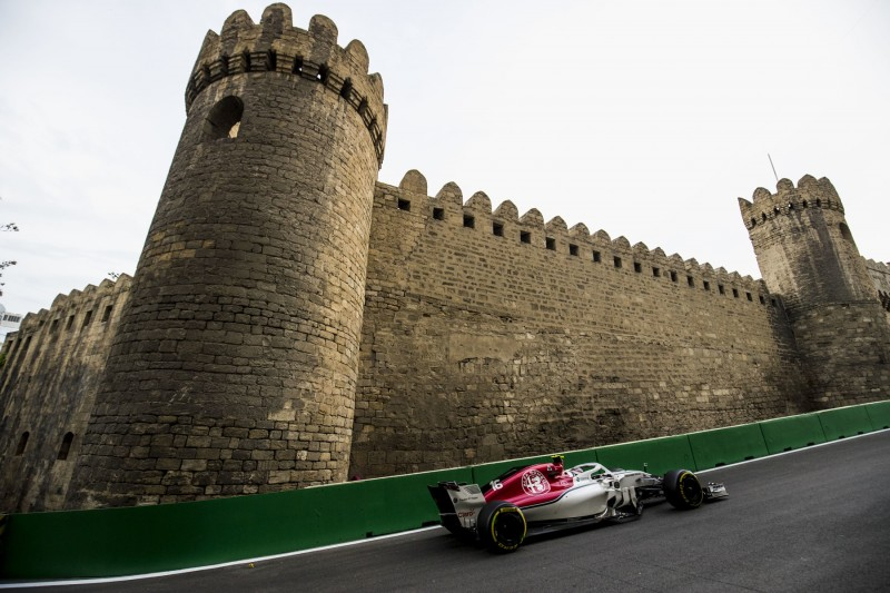Charles Leclerc in Baku 2018