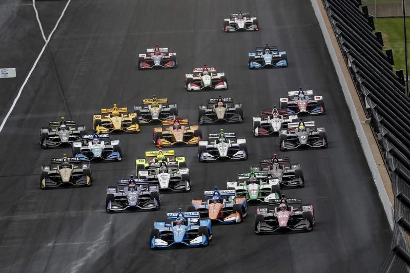 Start zum Grand Prix von Indianapolis 2019: Felix Rosenqvist führt