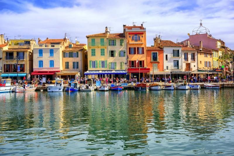 Hafen von Cassis in Frankreich