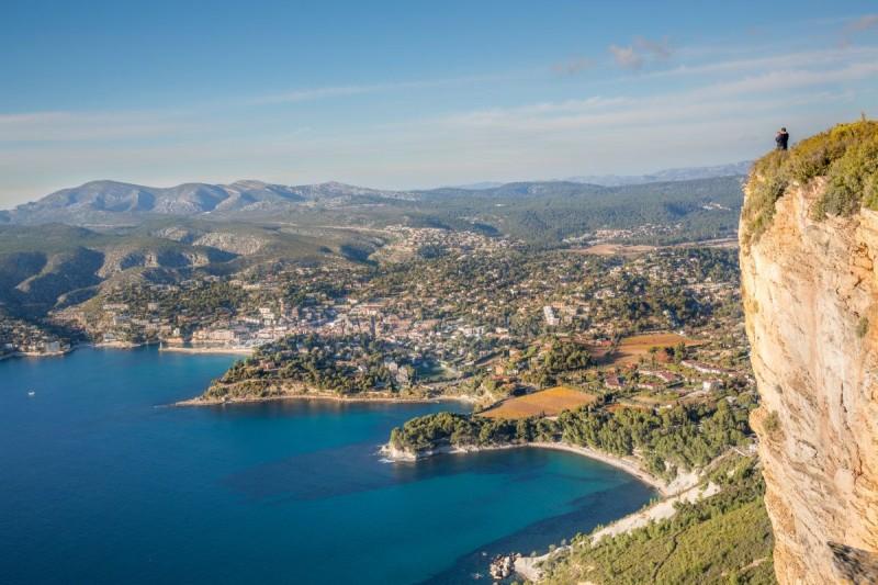 Blick auf Cassis in Frankreich