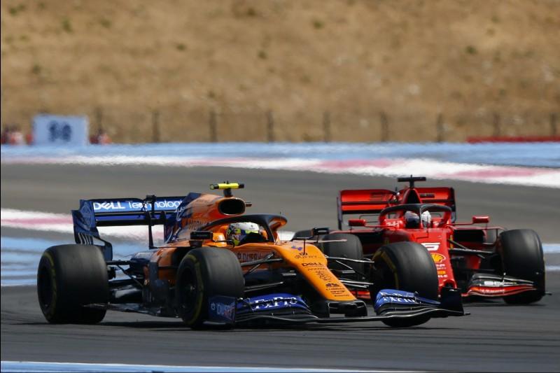 Lando Norris, Sebastian Vettel