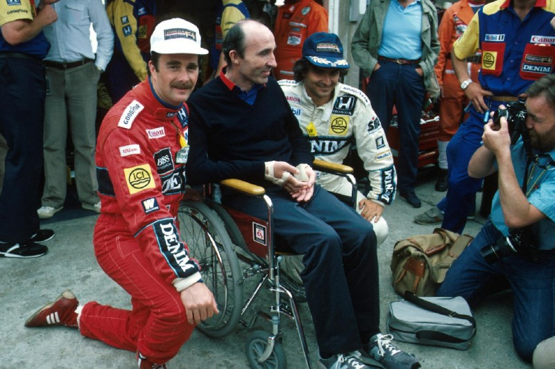 Nelson Piquet, Nigel Mansell, Frank Williams