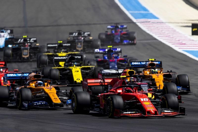 Charles Leclerc, Lando Norris, Carlos Sainz, Daniel Ricciardo