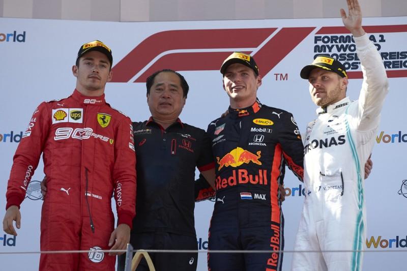 Charles Leclerc, Max Verstappen, Valtteri Bottas