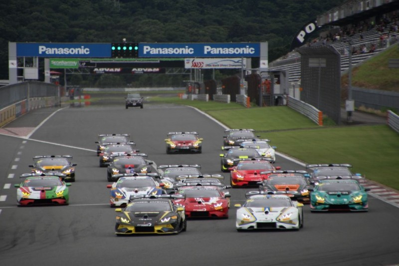 Start der Lamborghini Super Trofeo Asia in Fuji