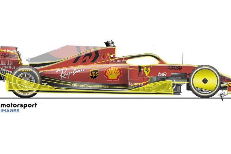 Illustration von Giorgio Piola: Formel 1 2021