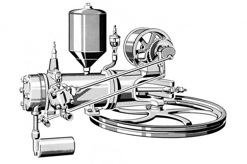Motor des Benz Patent-Motorwagens