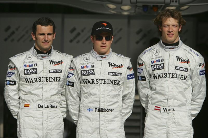 Pedro de la Rosa, Kimi Räikkönen, Alexander Wurz