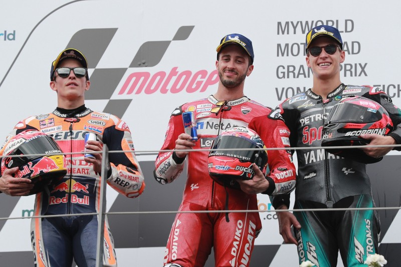 Andrea Dovizioso, Marc Marquez, Fabio Quartararo