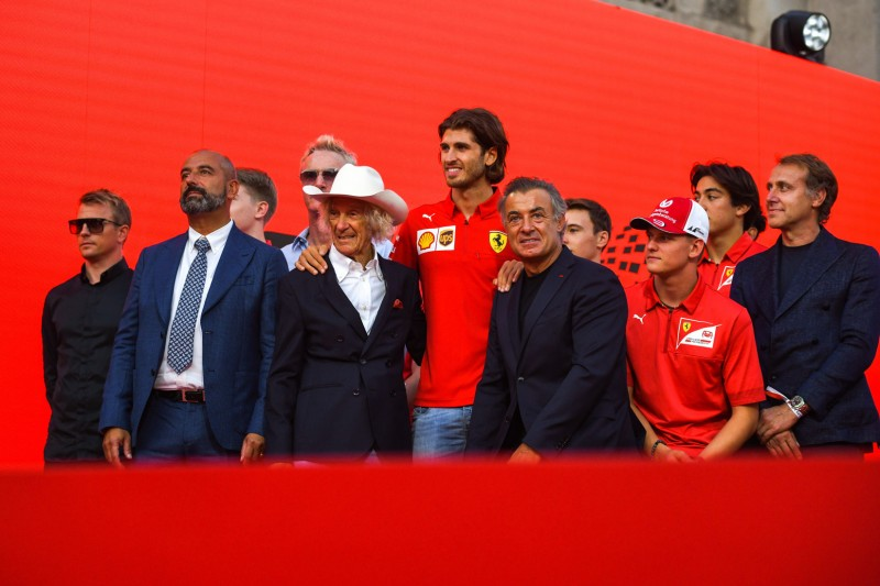 Luca Badoer, Kimi Räikkönen, Antonio Giovinazzi, Jean Alesi, Mick Schumacher