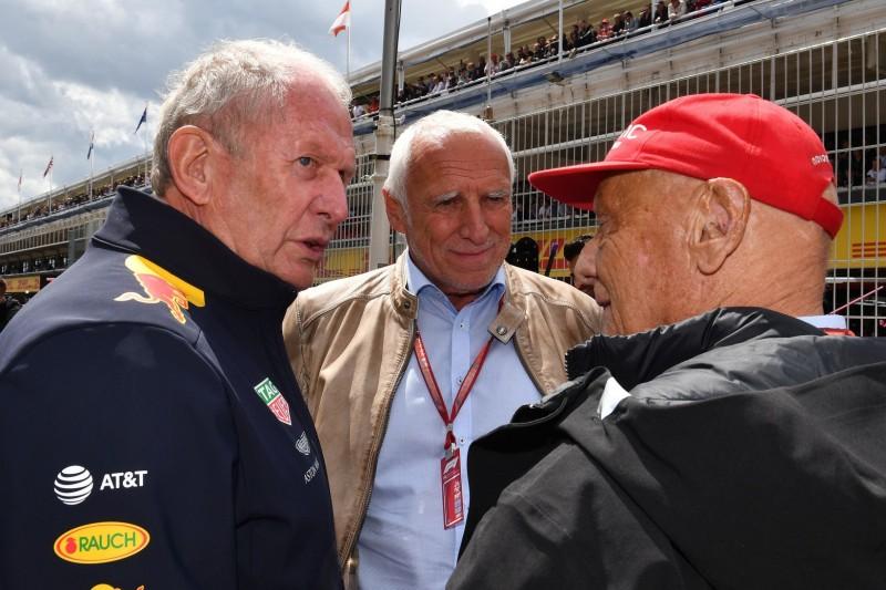 Helmut Marko, Dietrich Mateschitz, Niki Lauda