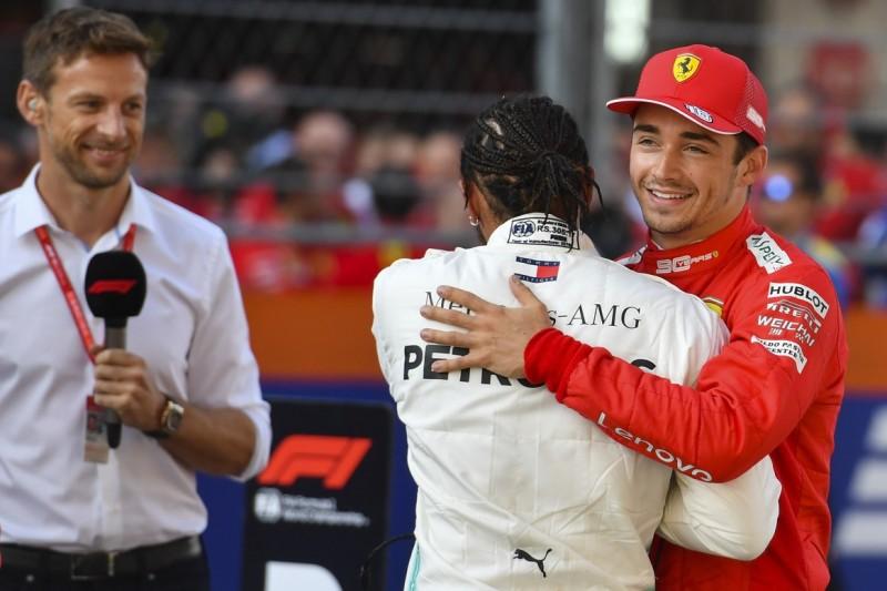 Charles Leclerc, Lewis Hamilton, Jenson Button