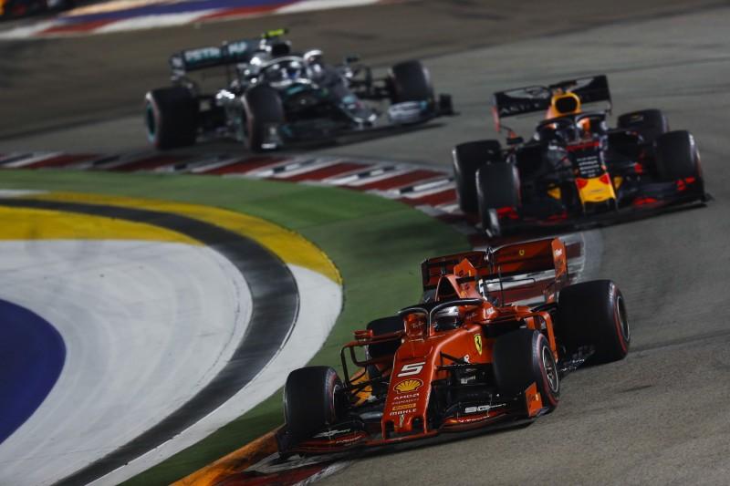 Sebastian Vettel, Max Verstappen, Valtteri Bottas