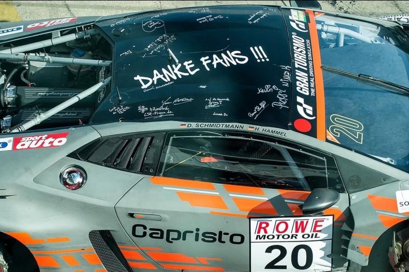 mcchip-dkr, Lamborghini Huracan GT3, Fan-Aktion, Unterschriften