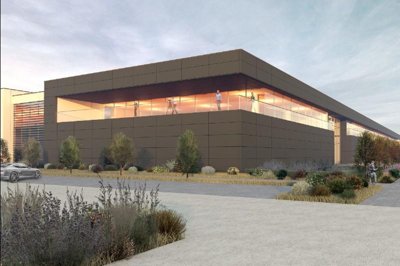 Fabrik von Racing Point in einer 3D-Visualisierung
