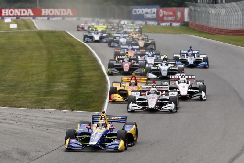Start zum Honda Indy 200 der IndyCar-Saison 2018 in Mid-Ohio