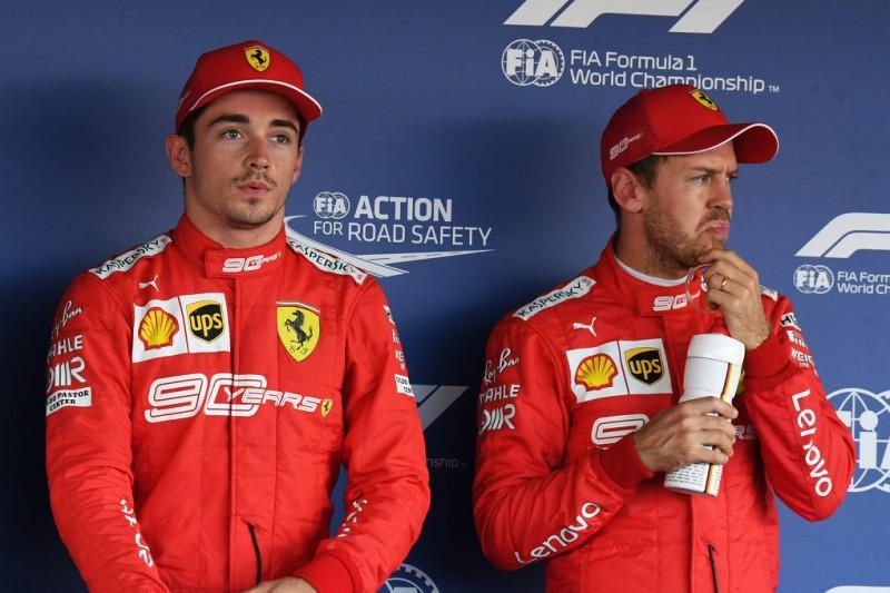 Lewis Hamilton, Charles Leclerc, Sebastian Vettel