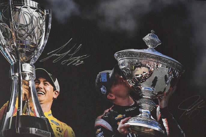 Poster: NASCAR-Champion Joey Logano und IndyCar-Champion Josef Newgarden