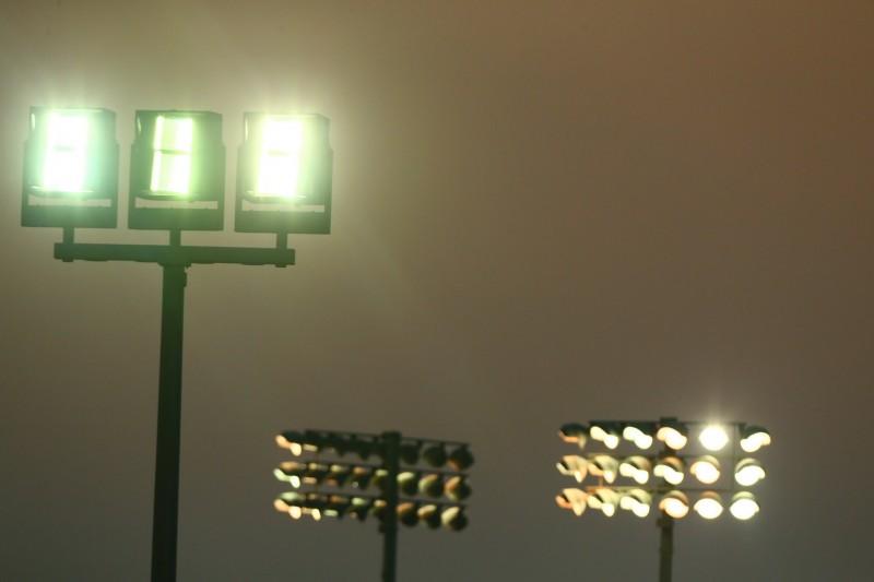 Flutlicht am Losail International Circuit in Katar