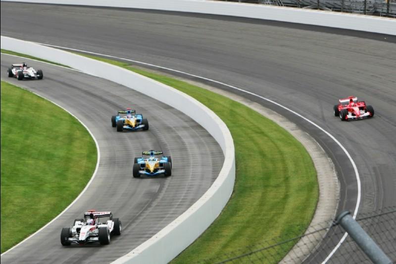 Einführungsrunde zum US-Grand-Prix 2005 in Indianapolis
