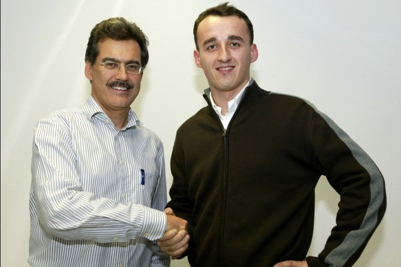 2006: BMW-Sportchef Mario Theissen, Robert Kubica
