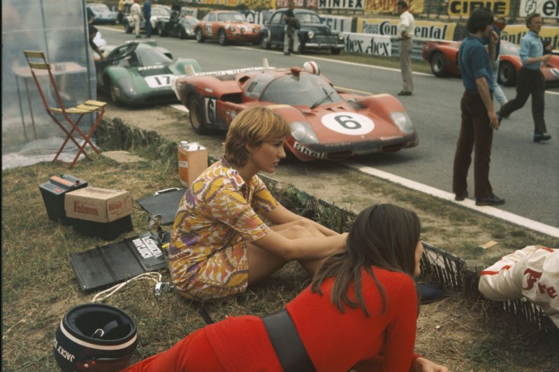 "Dreharbeiten zu Steve McQueens Film ""Le Mans"""