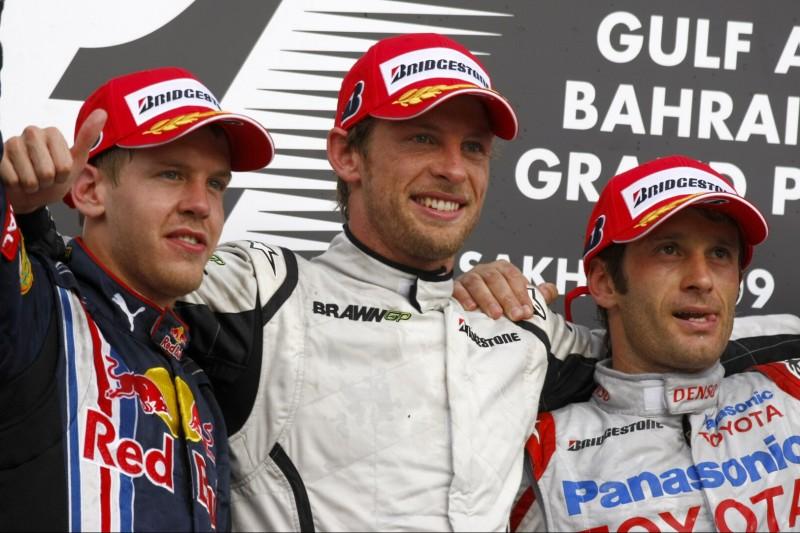 Sebastian Vettel, Jenson Button, Jarno Trulli