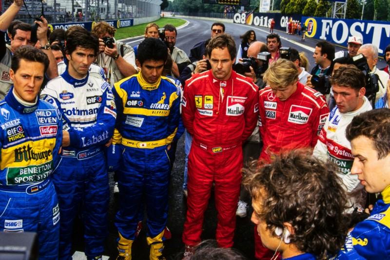Michael Schumacher, Damon Hill, Aguri Suzuki, Gerhard Berger, Jos Verstappen