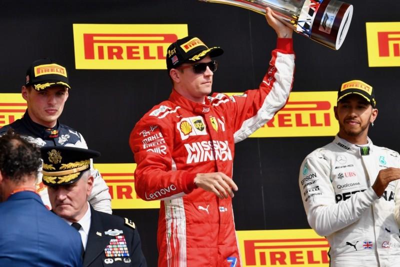 Max Verstappen, Kimi Räikkönen, Lewis Hamilton