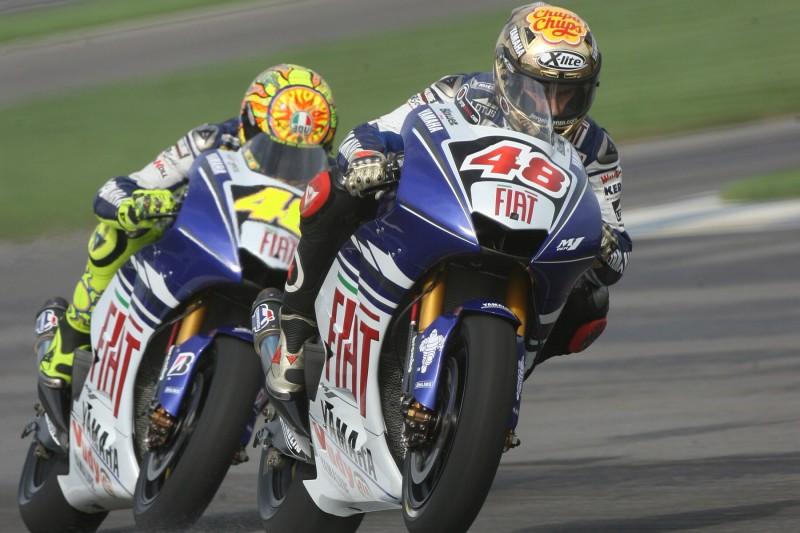 Jorge Lorenzo, Valentino Rossi