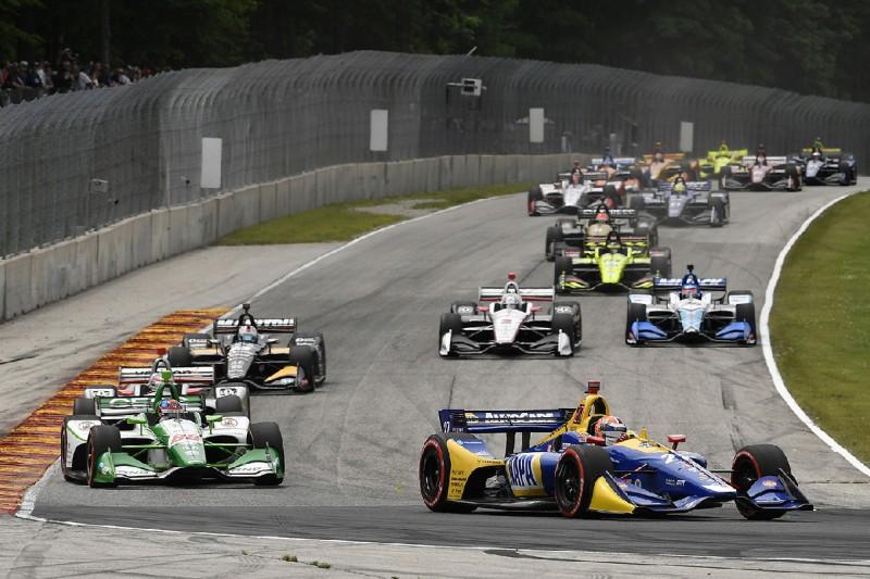 IndyCar-Action in Elkhart Lake 2019