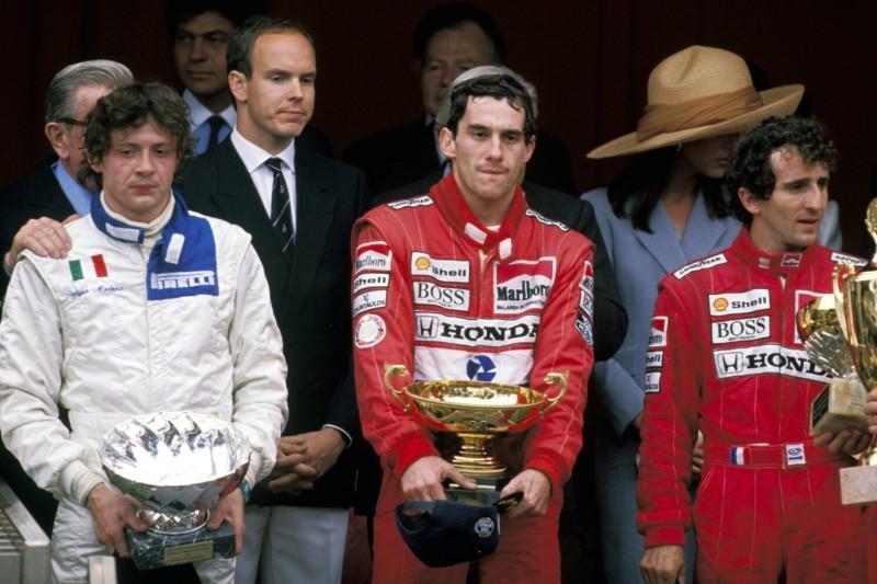 Stefan Modena, Ayrton Senna, Alain Prost