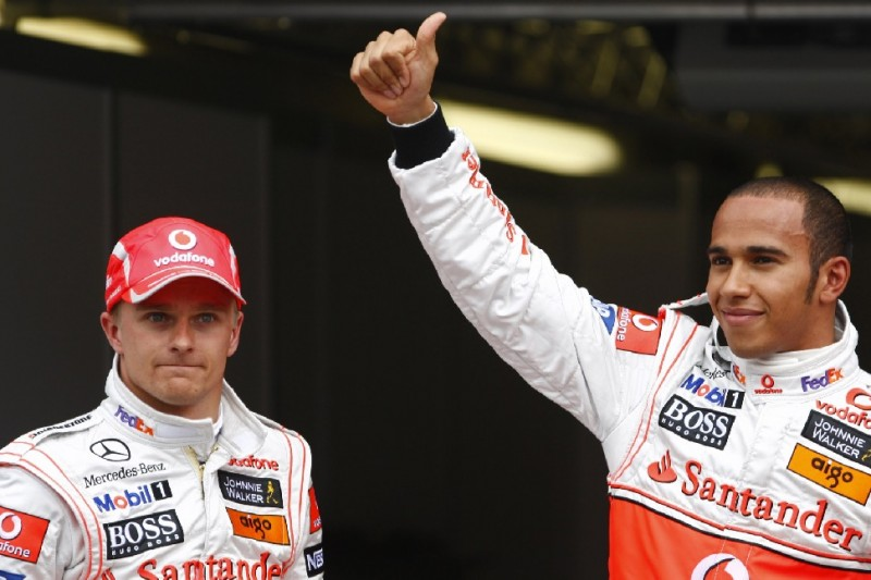 Heikki Kovalainen, Lewis Hamilton