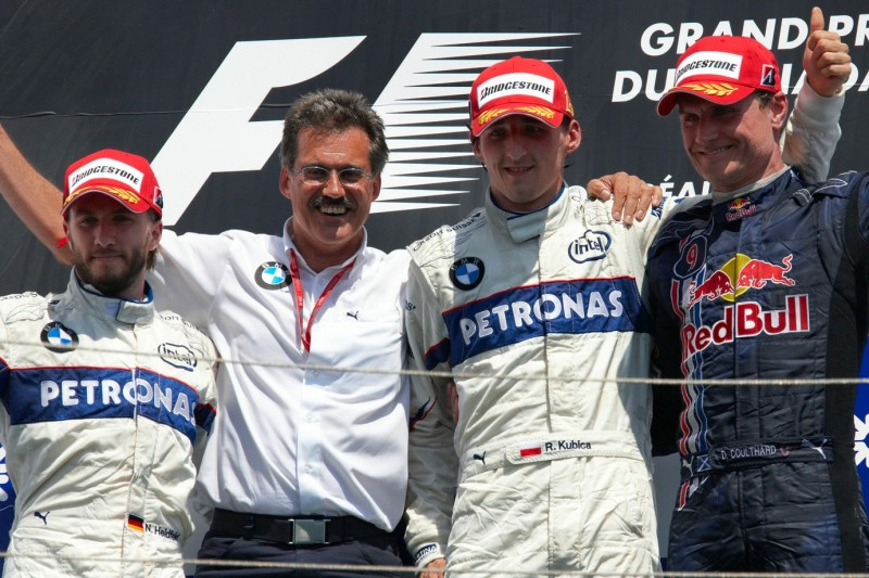 Nick Heidfeld, Mario Theissen, Robert Kubica, David Coulthard