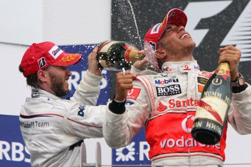 Nick Heidfeld, Lewis Hamilton