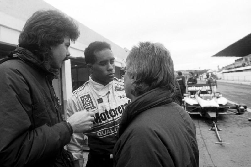 Willy Ribbs mit Gordon Murray und Herbie Blash bei Brabham