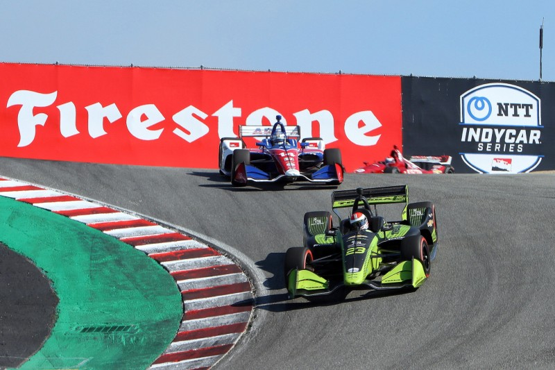 IndyCar-Action auf dem Laguna Seca Raceway