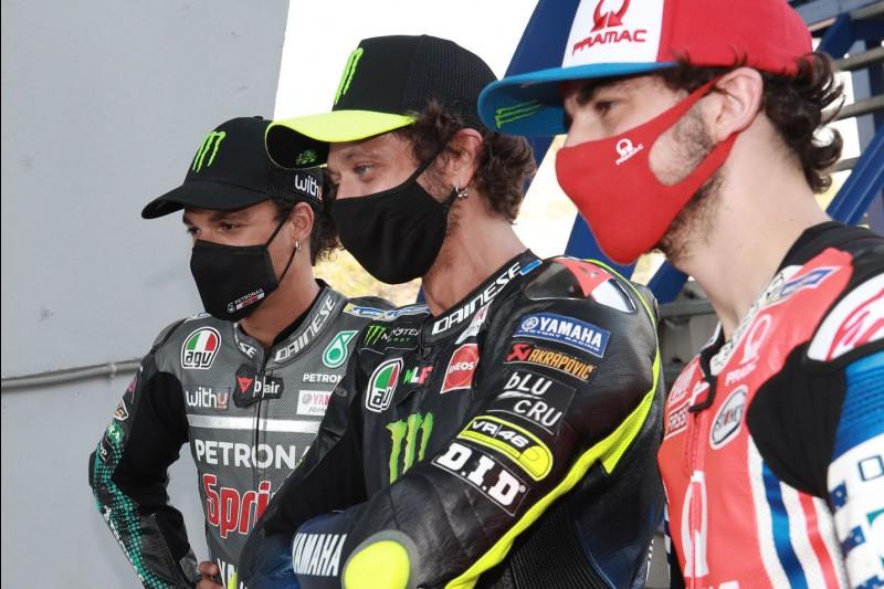 Francesco Bagnaia, Franco Morbidelli, Valentino Rossi