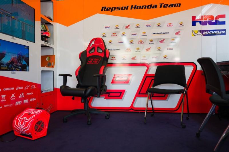 Leere Honda-Box von Marc Marquez